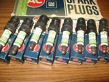 NOS AC R44T Spark Plugs 4 Green Rings Corvette Chevelle Camaro Nova Set of 8