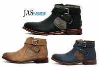 Mens Ankle Casual Boots Fashion Biker Smart Designer Shoes Smart with Zip Size
