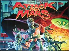 Ataque de Marte Pinball Multi-efecto Translite Luz Mod