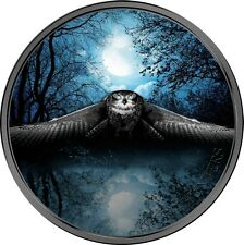 2017 Ivory Coast 3 Ounce Night Hunters Owl Colored Silver Coin 2,000 Francs CFA
