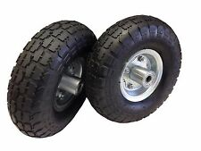 NEW 2 TIRE SET 10'' STEEL AIR PNEUMATIC HAND TRUCK DOLLY WAGON INDUSTRIAL WHEEL