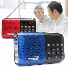 Portable Rechargeable FM Radio Speaker Digital USB TF Card MP3 Music Player