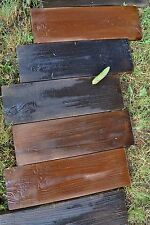 Set 4 Molds Old Wooden Boards Concrete Mould Garden Stepping Stone Path Patio