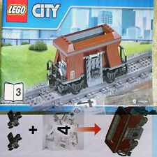 Lego Heavy-Haul Train 60098 Brown 4-wheel hopper Coal Wagon Freight Car NEW B3