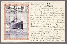 [59660] 1910 CASSIERS POSTCARD RED STAR LINE C-6