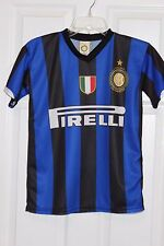 INTER MILAN JERSEY ZANETTI #4 REPLICA JERSEY XSM OFFICIAL LICENSED POLYESTER EUC