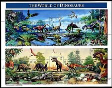 US PREHISTORIC 1997 SCOTT #3136 THE WORLD OF DINOSAURS 32c MNHVF 15 STAMP SHEET