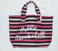 Victoria's Secret Limited Edition 2015 Hello Bombshell Striped Tote Beach Bag