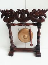 BALINESE HAND CARVED WOOD GONG MUSICAL INSTRUMENT ORNAMENT BALI 34CM