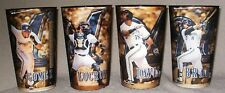 Lot of 4 2014 Milwaukee Brewers Hologram Cups with Jonathan Lucroy, Carlos Gomez
