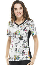 Cherokee Tooniforms Medical Scrubs The Nightmare Before Christmas Top Sz M NWT
