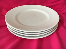 "4 WILLIAMS SONOMA BRASSERIE WHITE DINNER PLATES JAPAN 11""D"