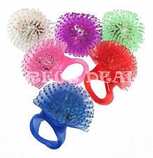12 Pc Soft Blinking LED Light Up Jelly Ring Rave Club Party Favors Glow Flashing