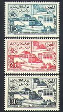 Morocco 1958 EXPO/Exhibition/Buildings/Architecture/Flags/Commerce 3v (n37340)
