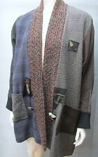 LEE ANDERSEN Mixed Wool, Silk & Cashmere Menswear Fabrics Jacket Art to Wear M