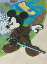 HTF Disney Pin DLR Mickey's Pin Odyssey Jedi Mickey from Easel Boxed Set LE OC