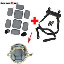 Military MICH Helmet Retention System Chin Strap BK & Protective Spacer Pads