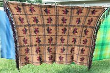 "Moose Mountain Co. Canadian 100% Wool Maple Leaf Blanket Throw 43"" X 68"""