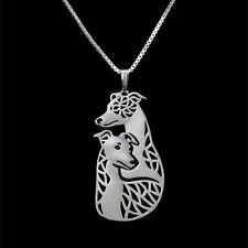 ❤️ Halskette Anhänger zwei Whippets, Windhunde, pendant necklace