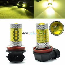2X H10 9145 9140 LED Fog Light Samsung 2323 80W 4300K Yellow Projector DRL Bulb