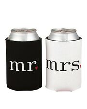 Mr. and Mrs. Can Beverage Cooler Foam Holder Wedding Gift Set Accessories Decor