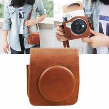 Instax Mini 70 Camera PU Leather Shoulder Case Bag Cover For Fujifilm Brown New
