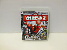 Marvel Ultimate Alliance 2 Sony PS3 Case, Artwork, & Manual - NO GAME DISC
