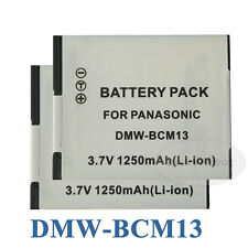 2X Battery Pack For Panasonic Lumix DMC-TZ40 DMC-TZ55 DMC-TZ60 Digital Camera
