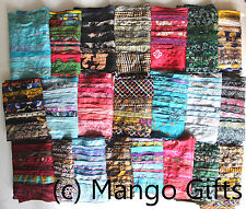 Vintage Silk Sari Recycled Scarves Stoles Patchwork scarf Wholesale Lot 25 Pcs