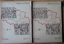 Ernest Closson Chansons populaires des provinces belges Tome 1 et 2