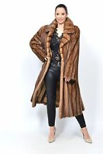 DEMI BUFF FEMALES MINK FUR COAT  HORIZONATL FULL LENGTH - PIEL NERZ VISON HOPKA