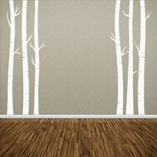 Huhome PVC Wall Stickers Wallpaper TV wall art birch tree home decoration remova