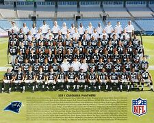 2011 CAROLINA PANTHERS FOOTBALL 8X10 TEAM PHOTO PICTURE CAM NEWTON ROOKIE RC
