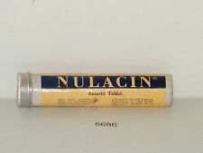 Vintage Nulacin Antacid Tablets Tube Tin Horlicks Limited Full New