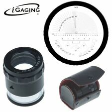 iGaging Stand Measuring Magnifier Loupe 10X w/Scale LED Lighted Illuminated NEW.