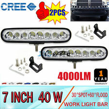 2X7INCH 40W CREE LED WORK MOUNTING LIGHT BAR FLOOD SPOT OFFROAD DRIVING LAMP SUV
