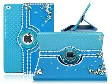 iPad Air /2 DIY 3D Rhinestones Case 360 Degree Rotating Leather Protection Cover