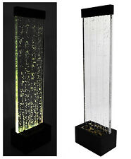 """Bubble Water Wall 4' 9"""" Color Changing LED Lights Indoor Feature Fountain"""