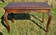 Antique Vintage Hand Carved Wooden Coffee Side Table Louis Philippe Style