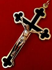 "Crucifix Catholic Cross  Stainless Steel Made In Italy 4,5""X 2,7"""