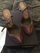 New Prada Suede Patchwork Shoes uK Size 5 In Box