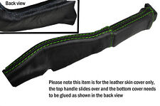 GREEN STITCH LEATHER HANDBRAKE BOOT SKIN COVERS FITS CORVETTE C4