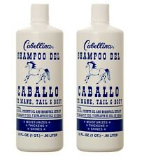 2 x Cabellina Shampoo DEL CABALLO HORSE For Mane Tail & Body Olive & Coconut Oil