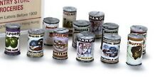 Dollhouse Miniature Cans of Food w/Old Fashioned Labels ,Pkg of 24