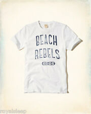 HOLLISTER By Abercrombie Printed Graphic T-Shirt Medium *Brand New w/ Tags* Tee