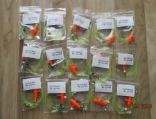 15x Mixed Running ledger pennel rigs, baitholder hooks good 4 cod,bass,plaice