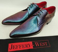 Jeffery West patent Leather Shoes UK8 EU42 US9 New