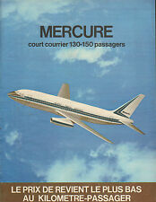 Publicité Advertising 1970  Avions MARCEL DASSAULT MERCURE court courrier vol