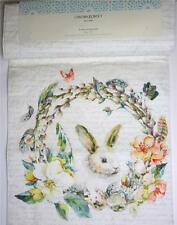 Cynthia Rowley Easter Bunny Rabbit Eggs Floral Table Runner New 15x72