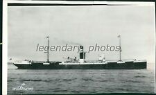 1940 World War II German Freighter Sunk by Sub Original Wirephoto